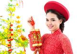 Tet girl — Stock Photo