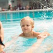 Learning to swim — Stock Photo