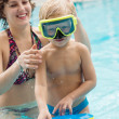 Kid in goggles — Stock Photo