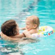 Swimming together — Stock Photo