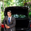 Businessman and his car — Photo