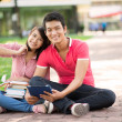 Campus couple — Stock Photo