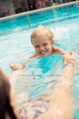 Swimming pool lesson — Stock Photo