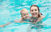 Healthy swimmers — Foto Stock