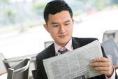 Czytanie menedżera — Zdjęcie stockowe