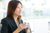 Confident business lady — Stock Photo
