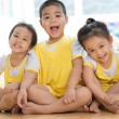 Laughing asian children — Stock Photo