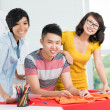 Three smiling Asians — Stock Photo