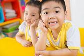 Happy asian children — Stock Photo