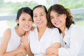 Senior woman with daughter and granddaughter — Stock Photo