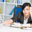 Overworked businesswoman — Foto Stock