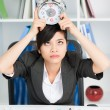 Business woman deadline - Stock Photo