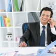 Cheerful businessman — Stockfoto
