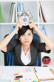 Business woman deadline — Stock Photo