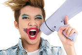 Screaming boy — Stock Photo