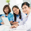 Three asian doctors — Stock Photo