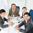 Stock Photo: Friendly business team