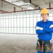 Foto Stock: Worker in uniform