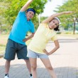 Active senior couple - Stock Photo