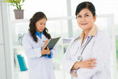 Positive female doctor — Stock Photo