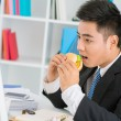 Stock Photo: No time for lunch