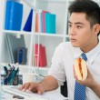 Stock Photo: Office hot-dog