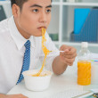 Noodle business — Stock Photo