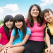Happy asian family — Foto de Stock