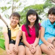 Three laughing sisters — Stock Photo