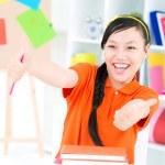 Happy student — Стоковое фото