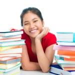 Cheerful schoolgirl — Stock Photo