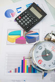 Business objects and papers — Stock Photo