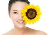 Sunflower eye — Stock Photo