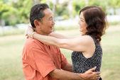 Senior Romantik — Stockfoto