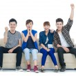 Excited teens - Foto Stock