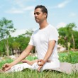 In lotus position — Stockfoto
