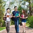 Stock Photo: Campus walking