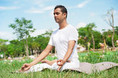 In lotus position — Stock Photo