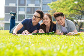 Modern students — Foto Stock