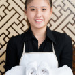 Chambermaid at work — 图库照片
