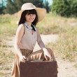 Pretty young traveler — Stockfoto