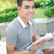 Reading outside — Stock Photo