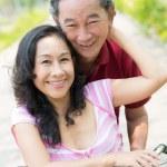 Embracing seniors — Stock Photo #24698351