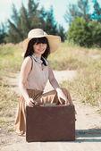 Pretty young traveler — Stock Photo