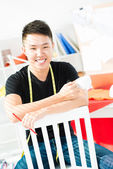 Smiling designer — Stock Photo