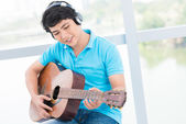 Teenage musician — Stock Photo