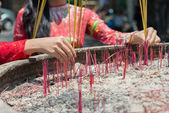 Incense ceremony — Stock Photo