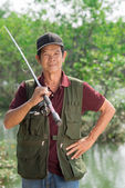 Skillful fisherman — Stock Photo