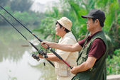 Catching the fish — Stockfoto