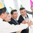 Cheering businesspeople — Stock Photo